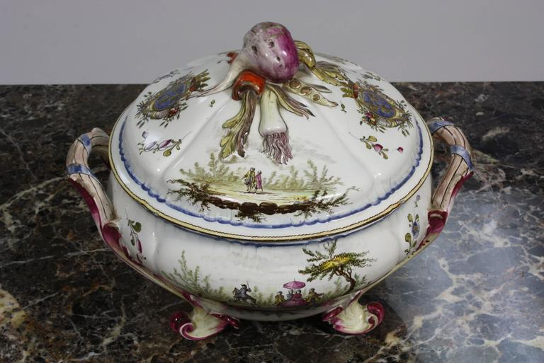 Louis XV French Faience Jardiniere by Veuve Perrin For Sale