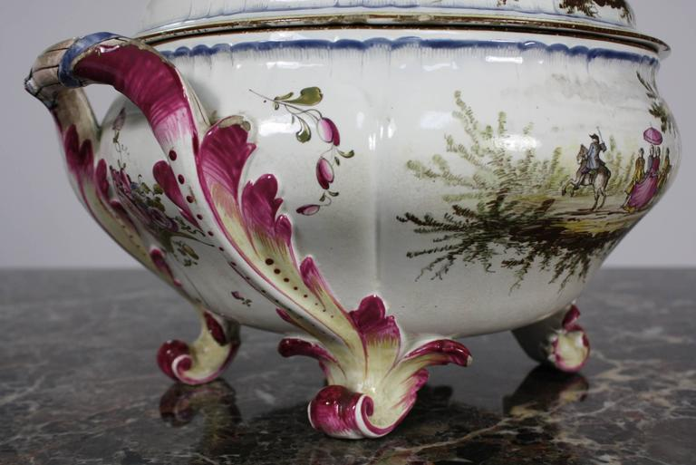 French Faience Jardiniere by Veuve Perrin For Sale 1