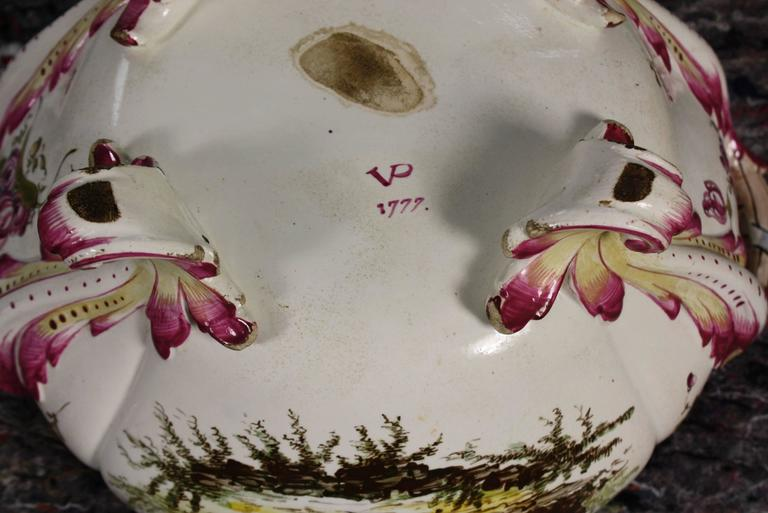 Ceramic French Faience Jardiniere by Veuve Perrin For Sale
