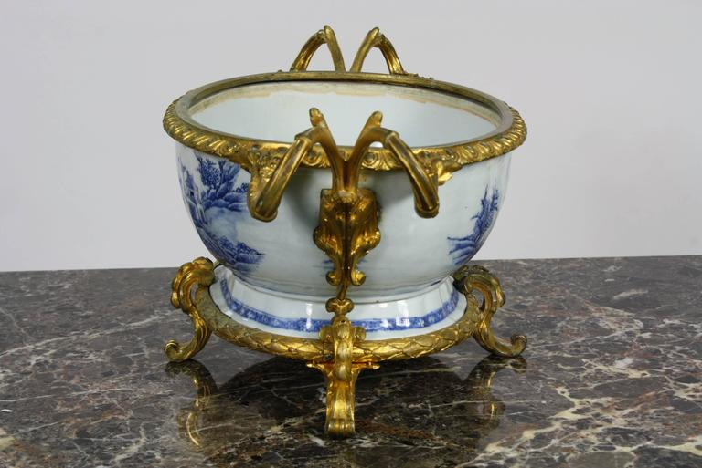 19th Century French Chinoiserie Jardinière with Gilt Bronze Mounts For Sale