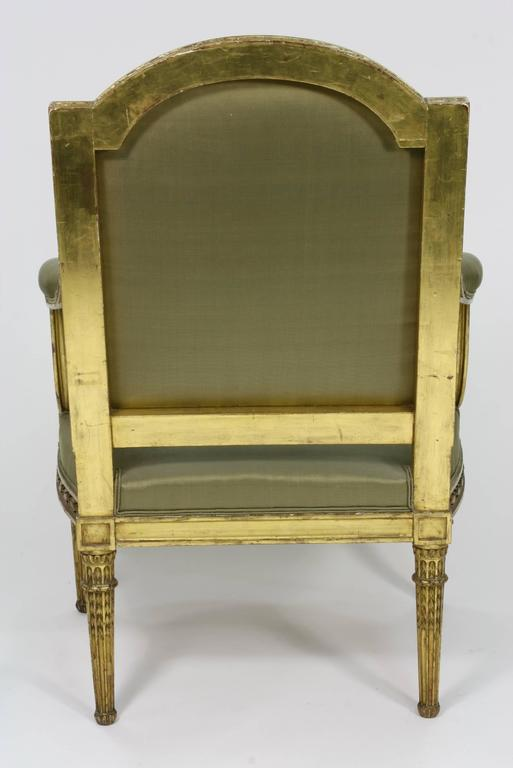 Pair of Fine Quality Louis XVI Style Giltwood Armchairs 10
