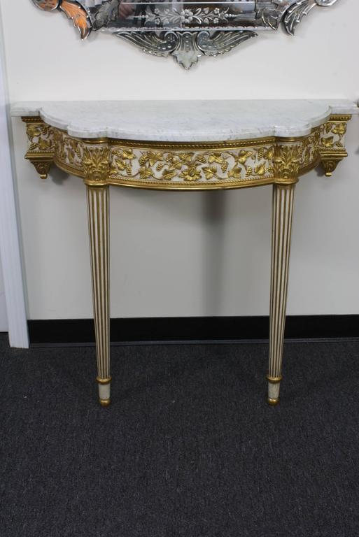 20th Century Pair of Fine Quality Louis XVI Style Console Tables For Sale