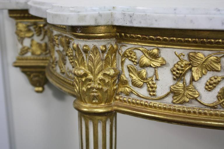 Pair of Fine Quality Louis XVI Style Console Tables For Sale 2