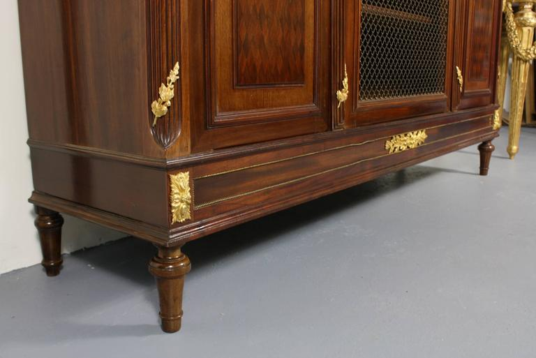 French Louis XVI Style Mahogany Bibliotheque For Sale 3