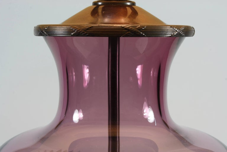 Lavender Crystal Urn Form Lamp by Lucy Cope 6