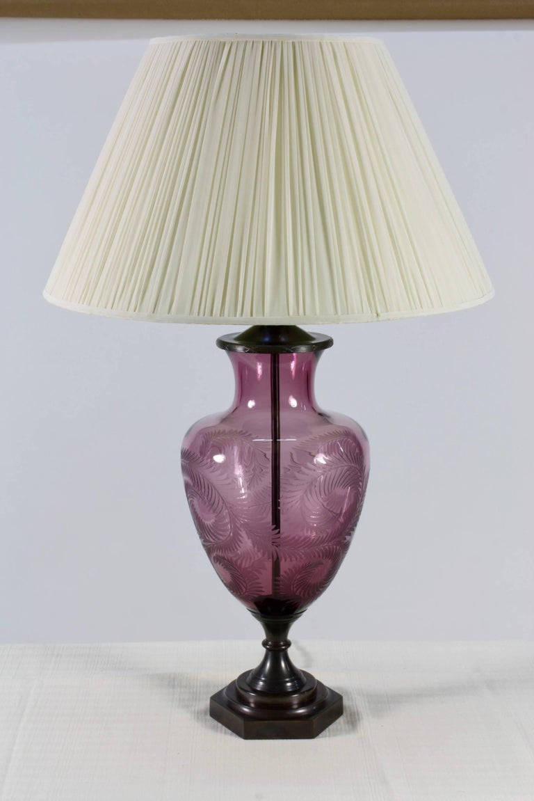 Lavender Crystal Urn Form Lamp by Lucy Cope 3