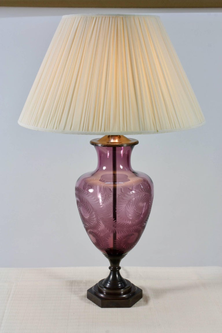 Lavender Crystal Urn Form Lamp by Lucy Cope 2