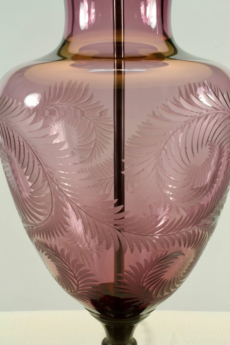 Lavender Crystal Urn Form Lamp by Lucy Cope 5