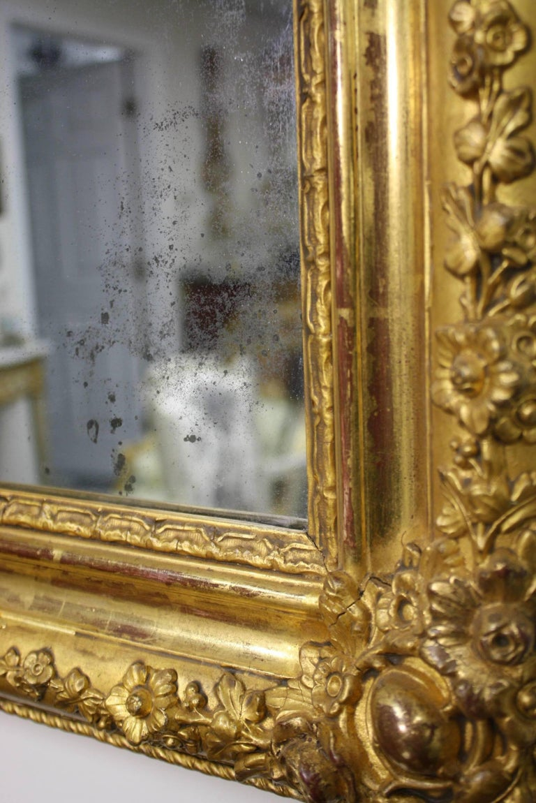 French Charles X Period Giltwood Mirror For Sale 3