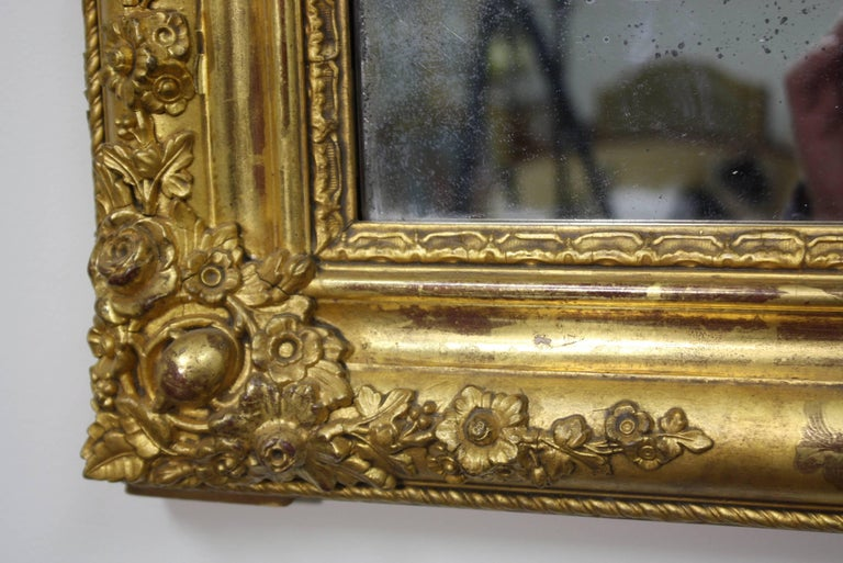French Charles X Period Giltwood Mirror For Sale 4