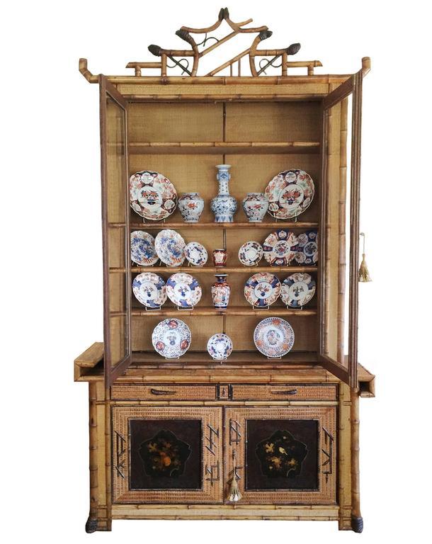 Perret et vibert japonais bamboo cabinet for sale at 1stdibs for Armoire style japonais