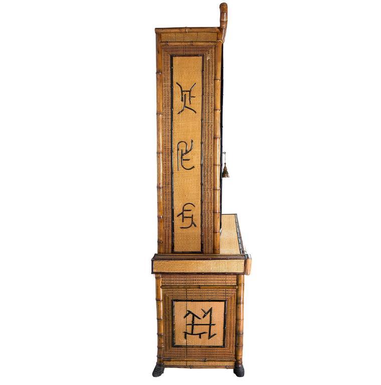 Perret et Vibert Japonais Bamboo Cabinet 3