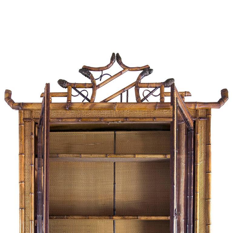 Perret et Vibert Japonais Bamboo Cabinet 7
