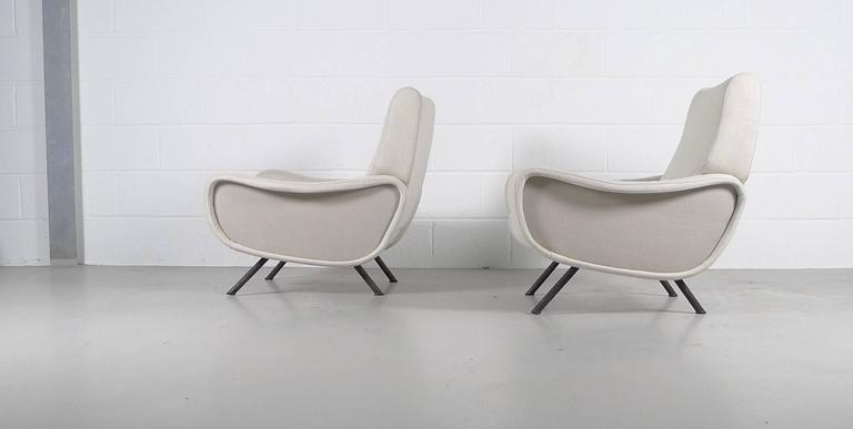 Mid-Century Modern Marco Zanuso, Pair of Early Lady Chairs For Sale