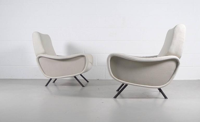 Italian Marco Zanuso, Pair of Early Lady Chairs For Sale