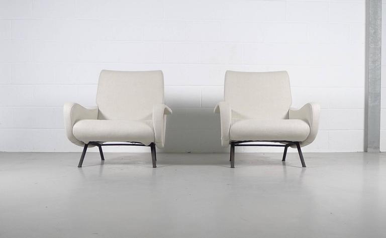 Marco Zanuso, Pair of Early Lady Chairs For Sale 1