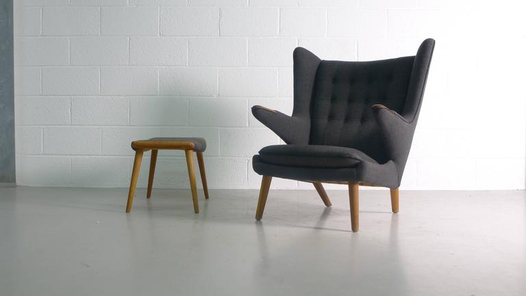 Hans Wegner Papa Bear and Ottoman 4