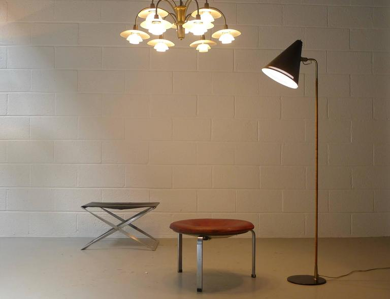 20th Century Paavo Tynell Floor Lamp 1950s, Stamped For Sale