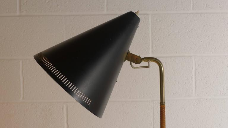 Paavo Tynell Floor Lamp 1950s, Stamped 3