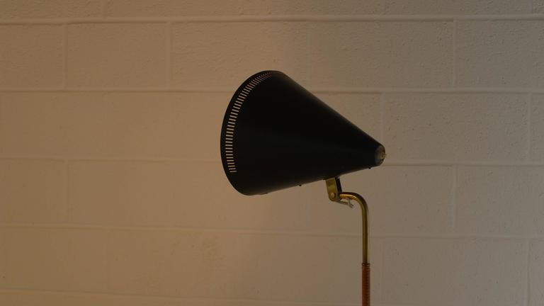 Paavo Tynell Floor Lamp 1950s, Stamped In Good Condition For Sale In Wargrave, GB