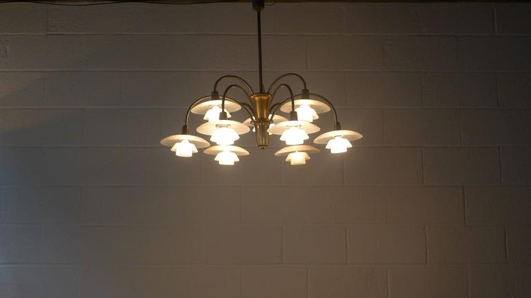 Poul Henningsen Early Nine Branch Chandelier For Sale 2