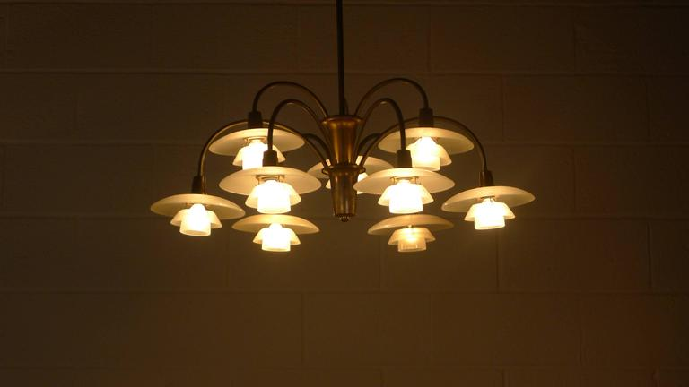 Poul Henningsen Early Nine Branch Chandelier For Sale 4