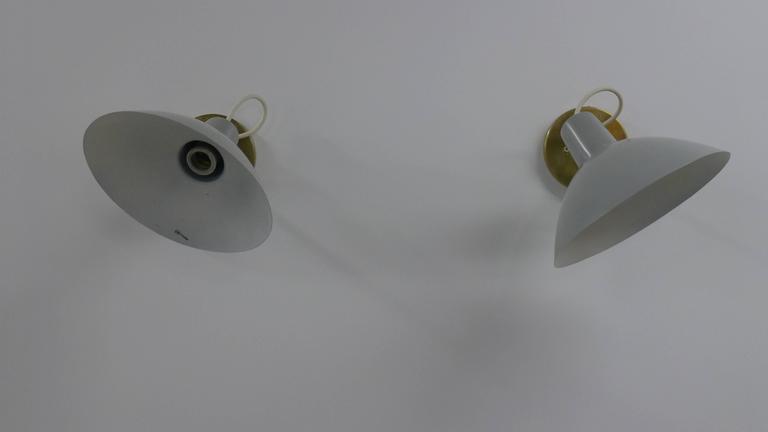Italian Vittoriano Vigano Visor Sconces for Arteluce For Sale