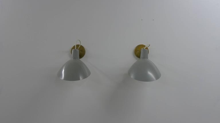 Vittoriano Vigano Visor Sconces for Arteluce In Good Condition For Sale In Wargrave, Berkshire