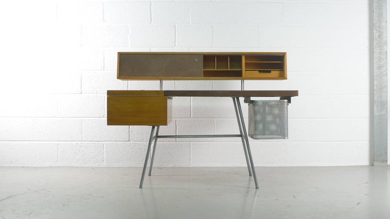 Mid-Century Modern George Nelson Home Office Desk, Vintage Herman Miller, 1950s For Sale