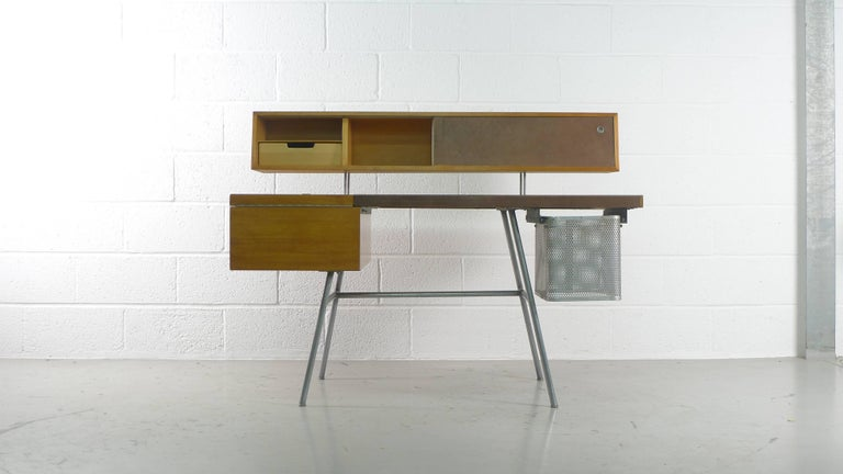 American George Nelson Home Office Desk, Vintage Herman Miller, 1950s For Sale