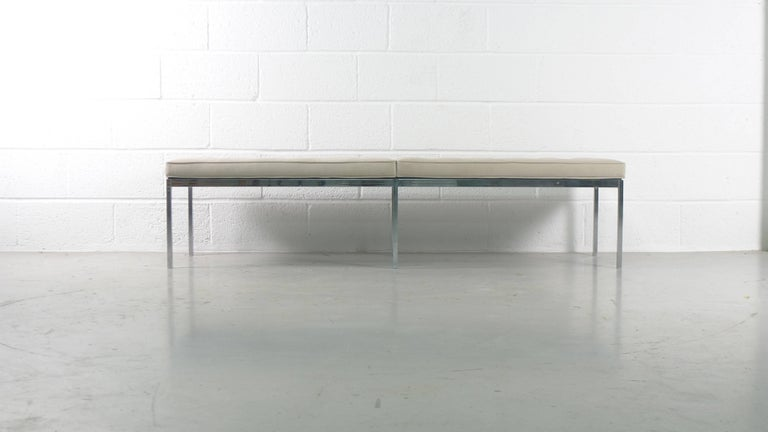 Mid-Century Modern Florence Knoll for Knoll International, Upholstered Bench, 1960s For Sale