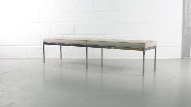 American Florence Knoll for Knoll International, Upholstered Bench, 1960s For Sale