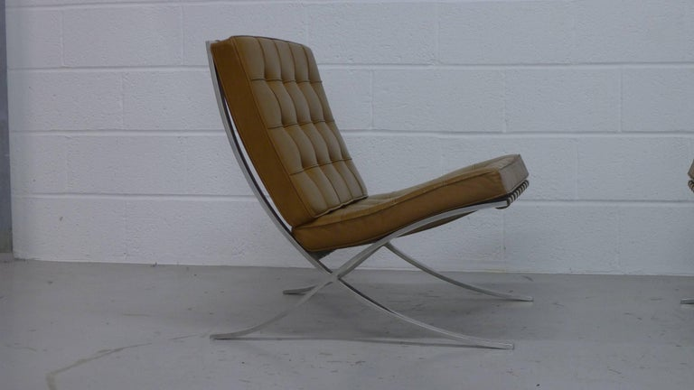 mies van der rohe vintage barcelona chairs with knoll labels circa 1960s at 1stdibs. Black Bedroom Furniture Sets. Home Design Ideas