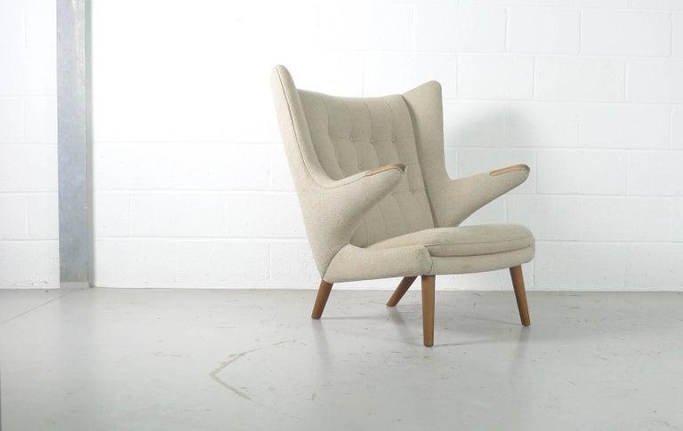 Danish Hans Wegner Papa Bear Chair, 1951, Stamped by Maker AP Stolen, Denmark For Sale