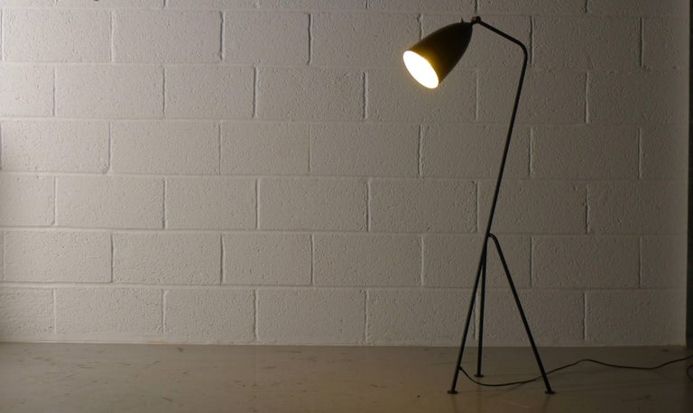 Mid-Century Modern Greta Magnusson Grossman Grasshopper Lamp for Bergboms, Labelled by Maker For Sale