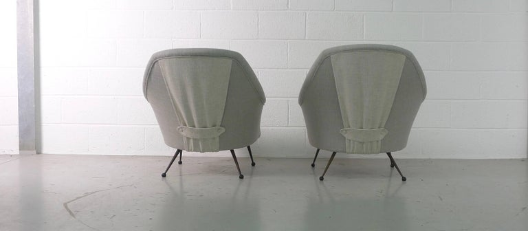 Italian Marco Zanuso Pair of Martingala Armchairs for Arflex, Italy, 1950s For Sale