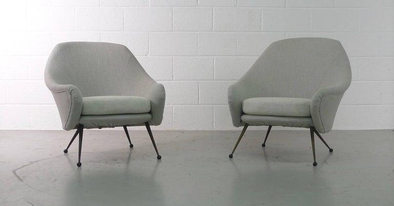 Marco Zanuso Pair of Martingala Armchairs for Arflex, Italy, 1950s 5