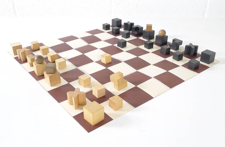 Josef hartwig bauhaus chess set at 1stdibs - Bauhaus chess board ...