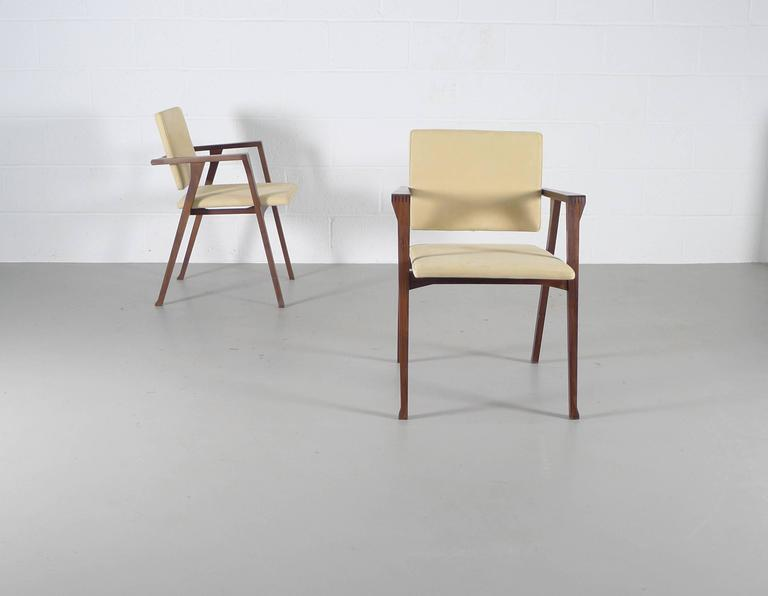 Mid-Century Modern Franco Albini Luisa Chairs For Sale