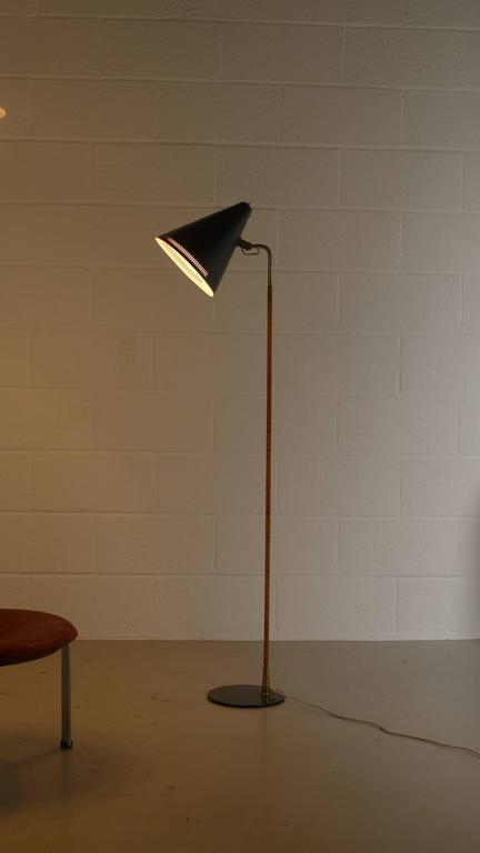 Paavo Tynell Floor Lamp 1950s, Stamped 10