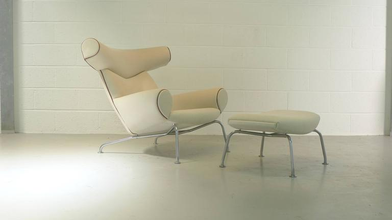 Hans Wegner Ox and Ottoman For Sale 1