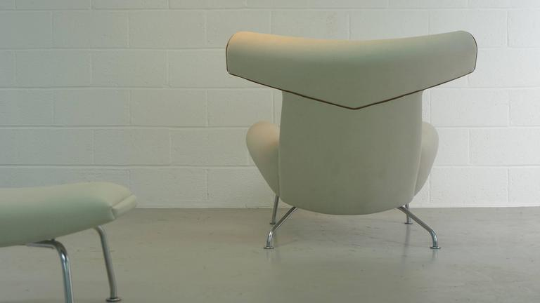 Hans Wegner Ox and Ottoman For Sale 2