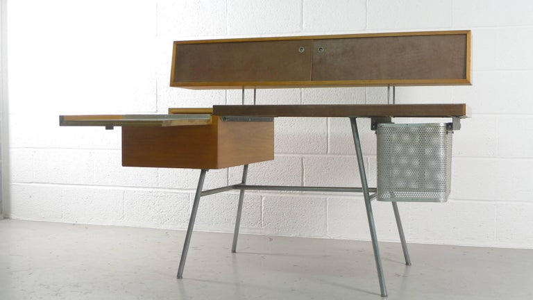 George Nelson Home Office Desk, Vintage Herman Miller, 1950s In Good Condition For Sale In Wargrave, Berkshire