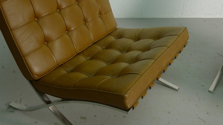 Mies van Der Rohe; Vintage Barcelona Chairs with Knoll Labels, circa 1960s  In Good Condition For Sale In Wargrave, GB
