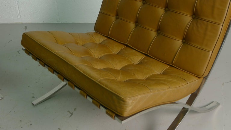Mid-20th Century Mies van Der Rohe; Vintage Barcelona Chairs with Knoll Labels, circa 1960s  For Sale