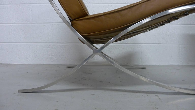 Mies van Der Rohe; Vintage Barcelona Chairs with Knoll Labels, circa 1960s  For Sale 3