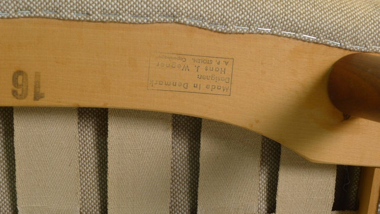 Mid-20th Century Hans Wegner Papa Bear Chair, 1951, Stamped by Maker AP Stolen, Denmark For Sale