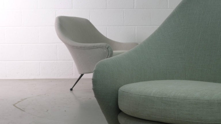 Marco Zanuso Pair of Martingala Armchairs for Arflex, Italy, 1950s For Sale 4