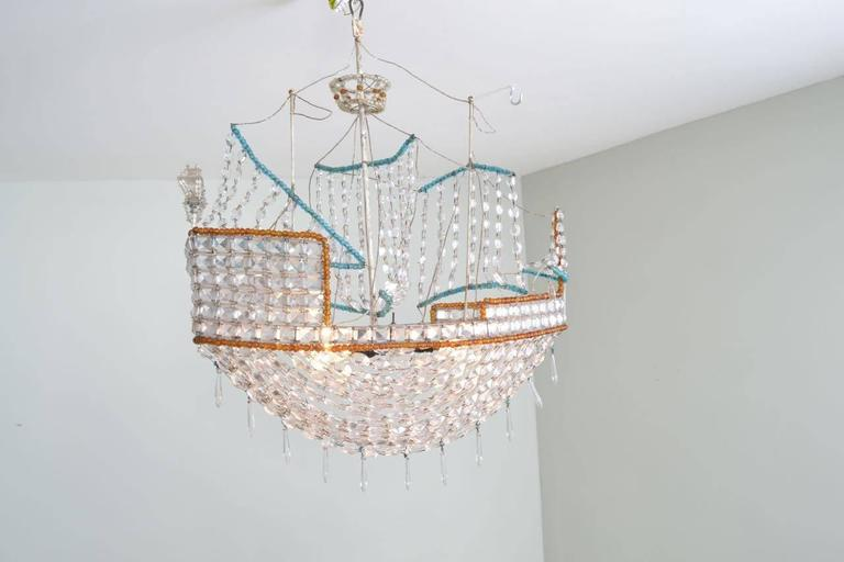 Kronleuchter Mit Glasperlen ~ Kronleuchter aus glasperlen im stil einer karavelle bei stdibs