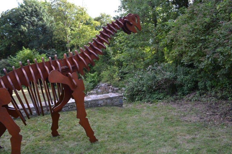 Massive Plywood Model Dinosaur, Italy, circa 1970 For Sale 4